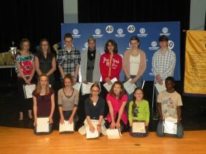 Les participants au concours d'art oratoire